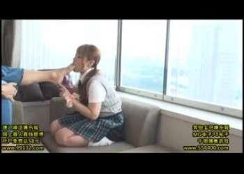 援交パパ活茶髪ツインテールギャルJKにアナル舐めやイラマチオに足舐めを教え込むルーズソックス制服姿のドM痴女