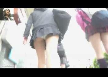 【盗撮】生々しい素人JKたちのガチロリパンチラ姿を逆さ撮りしたレアな隠し撮り個人撮影