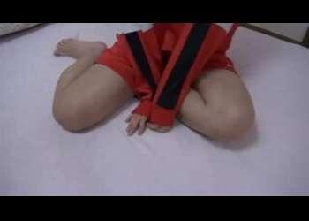 【個人撮影】JC風ロリブルマジャージ彼女と楽しく手コキセックス素人ハメ撮りエッチリベンジポルノ流出