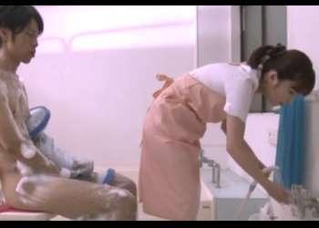 ♡姉弟相姦x入浴介助の看護師は実の姉…♡童貞のチンポを優しく包み込んで溜まった精子を抜いてくれちゃった♡