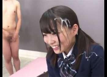 「待って待って!」女子校生にザーメンぶっかけインタビューに挑戦してもらう!