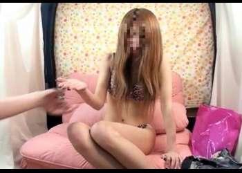 ナンパで下着チェックされたピンク豹柄下着の24才茶髪スレンダーギャル!本番SEXにおま●この奥はガチ敏感すぎて2本目の挿入も許す♡