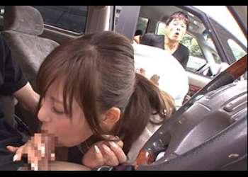 停車した隣の助手席の巨乳美女が誘惑してきた!!
