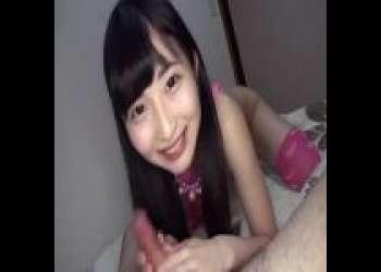 いつもニコニコ可愛いロリっ娘が笑顔でフェラしちゃってますwww(SEXなし) 若月まりあ