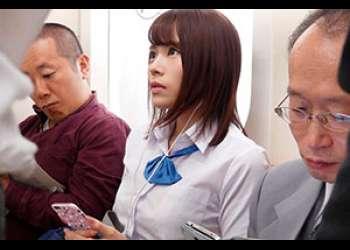 標的にされた女子校生!電車内で巨乳を揉みしだかれハメられる! 伊藤舞雪