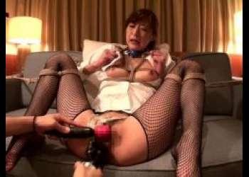 神波多一花 監禁された秘書が椅子にマングリ拘束されて電マでマンコを甚振られる