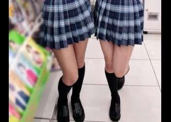 『ダメーっ!』美少女女子校生2人とハメまくり!生ハメして無許可で膣内射精!