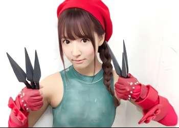 【三上悠亜】元国民的アイドルの超絶カワイイ巨乳美少女がストリートファイターのキャミーコスプレをしてパコパコセックス!!