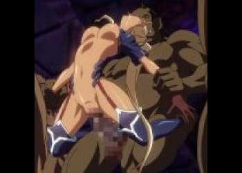 半端なくデカい肉棒を生挿入!褐色肌の巨乳女戦士が化物のオナホにされる!