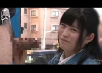 【MM号】上京したての純朴な黒髪美女が人生初のデカさの他人棒を見せられ思わずガン見しちゃう!