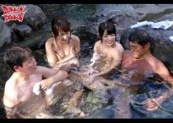 【ハーレム】アイドル女優たちと過ごす最高の夏休みセックス日記!混浴露天風呂はザーメンダラケ!