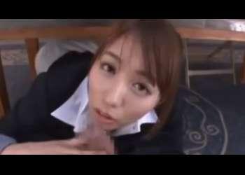 【美雪ありす】美女すぎるエロ上司にオフィスでしゃぶられお顔に発射!!
