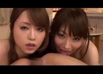 【吉沢明歩 香西咲】可愛いすぎるお姉さん2人に責められマ●コに突っ込み乳首を責められ気持ち良すぎる♪
