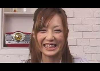 【冬月かえで】インタビュー中なのに綺麗なお顔にぶっかけまくる!!!