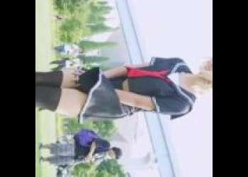 【コスプレ パンチラ 制服】コスプレ撮影会で邪ンヌコスのコスプレイヤーさんをパンチラ激写wwww