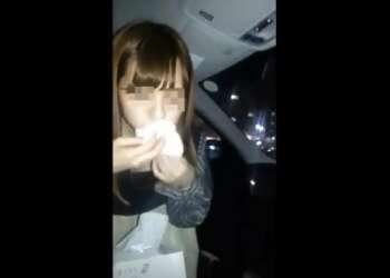 『早くいってよね』深夜の車内で女友達にお願いして渋々フェラ抜きさせた※スマホ撮り!