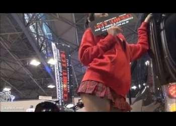 【盗撮】超激ミニスカート姿でパンチラしてるキャンギャルお姉さん最高にエロすぎるパンツ丸見え個人撮影素人映像