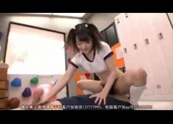 【麻里梨夏】ロリ童顔ショートカットヘアブルマJKに痴女られて逆レイプされるフェラ抜き手コキ責め