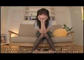 【天使もえ】激かわスレンダー美脚黒パンスト美少女JKがパンチラしながら足コキ見せつけ激エロツインテール