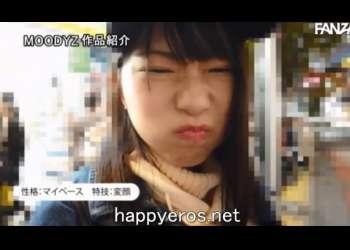 【河合ゆい】19歳の黒髪ロングの可愛いスレンダー美少女がAVデビュー!いきなり3Pで潮吹き!