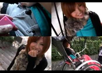 《雫パイン》観光地でリモバイを装着して人力車に乗る羞恥デート