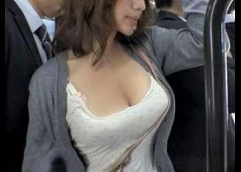 エロカワ巨乳お姉さんがバスで痴漢ガチレイプされて痙攣絶頂悶絶アクメ!!