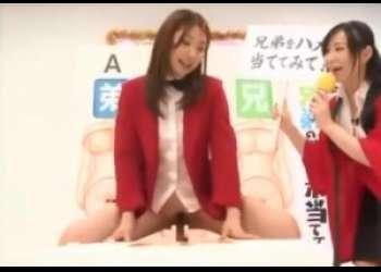 《倖田李梨》あの司会美人お姉さんが、父と兄と弟のチンポ当てゲームに挑戦!!