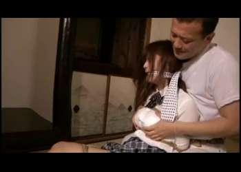 ★さとう遥希★縛られた巨乳JKが押し入れに監禁!鬼畜教師に綺麗なおっぱいを揉みしだかれる★拘束/乳揉み★
