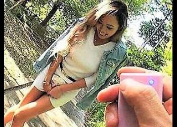 [スレンダー]【藤本紫媛】「ヤダ!ダメだって…」巨乳な金髪ギャルお姉さんが車内で個人撮影/ヤバいやつ&潮吹きw