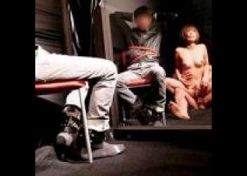 《罰GAME》シロウトアベックの彼女が彼氏の目の前で巨根ずぼずぼハメられ中出しされる鬼畜寝取りプラン