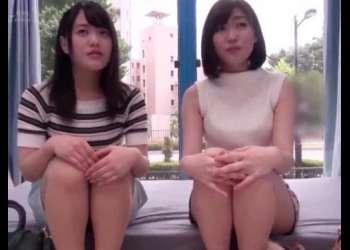 【鎖骨綺麗】めちゃカワ美女2人がMM号に誘われて紙パンツスタイルでアソコを電動マシーン責めされチンポ挿入で犯されちゃうwww