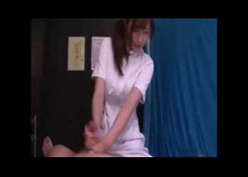 男の噴水「我慢しないでください☆」看護婦コスのお姉さんの凄テクプレイ!!エチエチお姉さん必見
