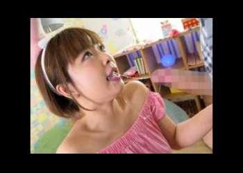 <紗倉まな>『いっぱいお口に出して下さい♥』爆乳ロリカワイコちゃんが喉奥♡強制フェラチオで突かれてイきまくり♥