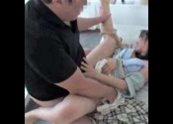 【椿りか/OLレイプ】受付嬢の自宅を事前に調べ二人組で自宅強姦!小さな体を大人二人で好きに弄び中出しを楽しむ、、