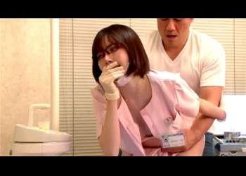 【深田えいみ】超かわいい巨乳美少女歯科衛生士のお姉さんが急に搾乳手コキで誘惑逆レイプしてきてフェラ抜き立ちバック正常位こっそりバレないように高画質エッチ