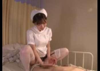 【深田えいみ×ナース】痴女に捕まった入院患者が逆レイプ手コキ騎乗位色白巨乳ナースが最高にえちえち