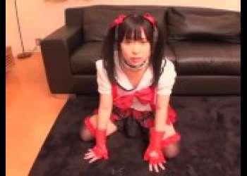 【いとう美憂】童顔ロリかわいいスクールアイドルアニコスプレイヤーツインテール童顔ロリパイパン美少女イラマチオオナニー