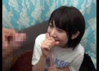 【素人ナンパ】めっちゃかわいいショートカットヘアロリ童顔貧乳美少女にセンズリ鑑賞見せつけ発情させてみる
