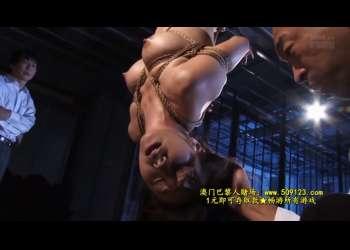 【一条綺美香】緊縛されて苦痛と悶絶の連続!吊るされて男たちの見世物・・絶叫と屈辱の調教!