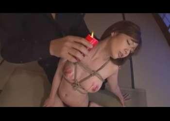【SM・凌辱調教】美人OLを監禁して凌辱・・緊縛されて乳房に蝋燭!スパンキングで悲鳴を上げるドM女!