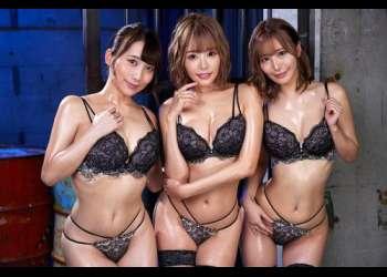 【百永さりな・浜崎真緒・倉多まお】淫乱サキュバス化した巨乳美女3人がM男を痴女りまくる!