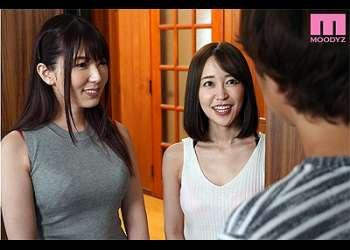 [篠田ゆう 波多野結衣]『隣の奥さんとはしたんでしょ♡』二人の美人妻に痴女られる嬉しい日々!