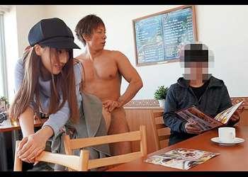 [三上悠亜]『何~♡ヤダ~♡』いきなり裸の男にハメられるドッキリ!喫茶店でアクメに達する国民的元アイドル!