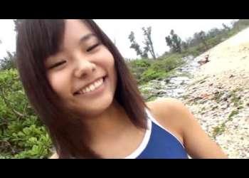 【日焼け女子】合コンのあとは、何しよう?ド田舎の海辺で無垢なスクール水着の女の子と言葉巧みに海辺でエッチ
