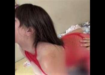 《深美せりな/巨乳人妻/ヤバいやつ》*'ー')卑猥な網タイツで凌辱される人妻!巨乳を揉みしだかれ、アソコを舐められ、悶え狂う!!