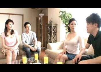【三浦恵理子】美しい姉妹はお互いの息子を誘惑して乱交する!乳揉みクンニWフェラ!叔母と甥に母と息子挿入して禁断中出し射精