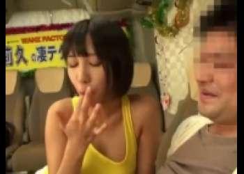 湊莉久・セクシーお姉さんの舌技に我慢できれば膣内射精のご褒美、ショートカット巨乳ギャル手コキ・ベロキス