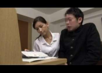 スレンダー美熟女家庭教師の性教育、美人妻フェラチオ騎乗位