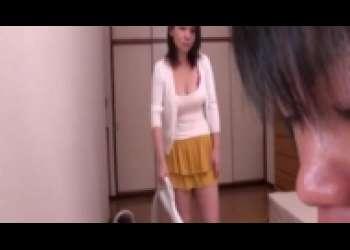 内田美奈子・巨乳義母近親相姦レイプ、四十路豊満美熟女クンニ後背位ベロキス
