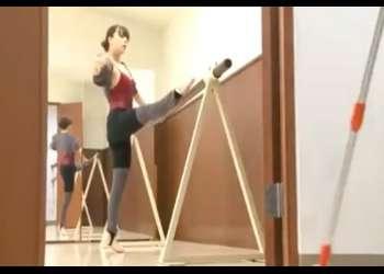[ながえ] 踊子の足に魅了された清掃員は踊子の部屋に押入り世にも不埒な変態凌辱 [白鳥るり]